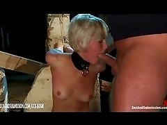 The master and mistress dominating prisoners