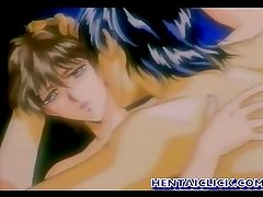Anime gay having hot anal sex act