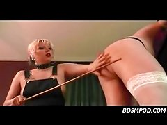 Femdom strapon and spanking tutorial