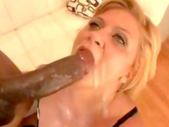 White lingerie milf takes black