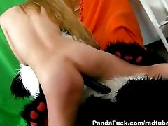 Playing with xxx panda sex toys