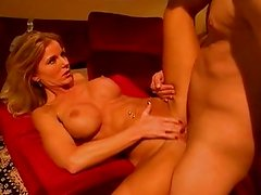 Blond devil woman gets nailed