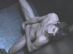 Wanking in the booth