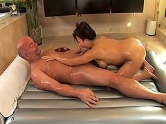 Hot and gooey asian massage