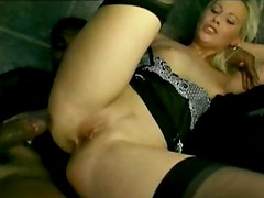 Toilet is place for hot blonde to give all