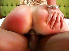 Black dick stretches all holes
