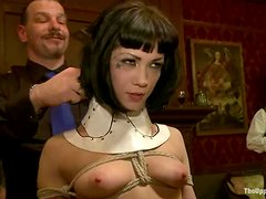 Bunch of poor slave girls get used and abused in the fortress of BDSM