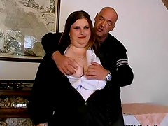 Fat brunette mature lady loves sucking