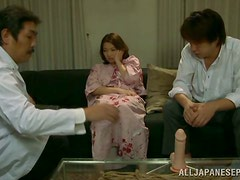 Mio Takahashi gets tortured and mouth-fucked by two dudes
