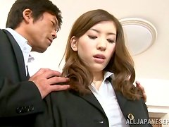 Yuria Ashina rides a cock passionately and gets facialed