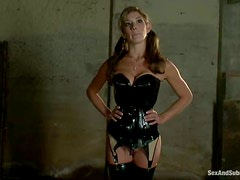 Felony gets her holes brutally fucked in terrific BDSM vid