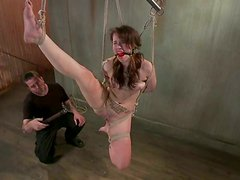 Elizabeth Thorn gets her coochie fingered and toyed in BDSM scene