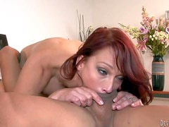 Nikki Hunter is a red-haired hot mature babe with juicy