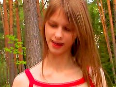Beata goes to the forest with her two male friends and she soon ends up with their cocks in