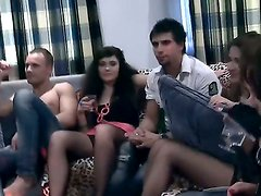Awesome amateur party with naughty friends