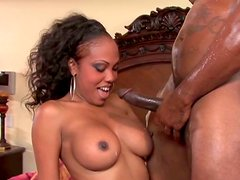 Booty ebony slut Lacey DuValle serves her man at the highest level