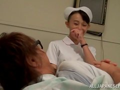 Sex hungry Japanese nurse rides a cock in a toilet cabin