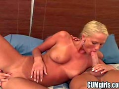 Tanned cheating blonde bitch with natural tits and long whorish