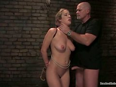 Bondage Fucking for Blonde Jade Marxxx in Wild BDSM Sex Video