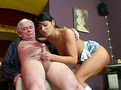 Arousing brunette hoe Sander welcomes hard fuck in missionary style