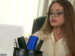 Lesbian Sex with Ass and Pussy Fingering and Licking in the Office