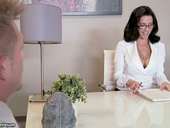 Boss in Glasses and Lingerie Veronica Avluv Having Sex in the Office