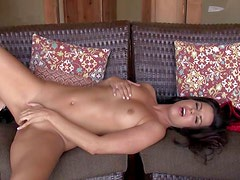 Dark haired and sensual milf with an amazing body and