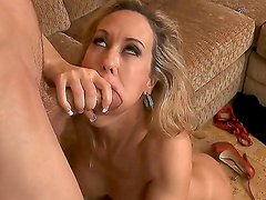 Plump and tight chick Brandi Love got fucked up by Jordan Ash in doggy pose