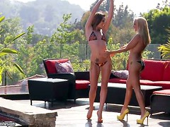 Hot Lesbian Sex in the Jacuzzi with Tori Black and Sandy