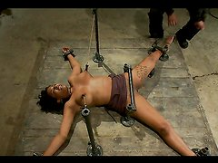 Ebony Sex Slave Gets Nipple Clamps On Her Big Tits