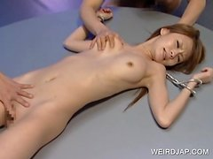 Japanese girl tied up in kinky threesome