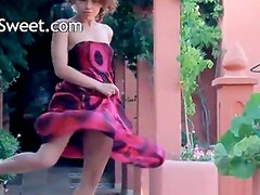 Exotic cheerleader stripping and dancing