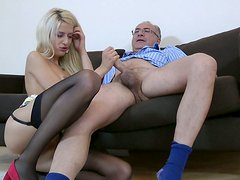 Naughty Blanche is riding hard shaft actively