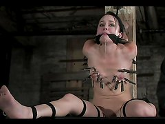 A Painful Bondage Scene With A Sexy Brunette