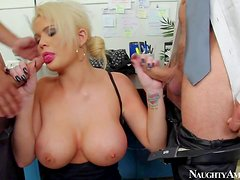 Lusty blonde milf Alexis Ford with gigantic tits and long