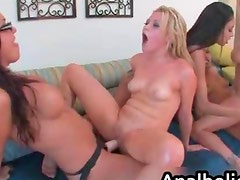 Alexis Love loves to share a dildo for