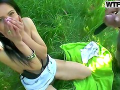 Pretty teen girl Viki does her on camera action