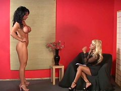 Layla Lust gets her tits fondled and pussy fingered by her mistress