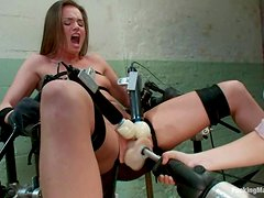 Stunning Tori Black gets toyed with two vibrators and a dildo