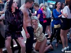 Fucked holes on hot women in a party video