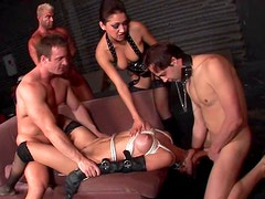 Cute skinny babe fuck in BDSM style like perverted