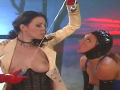 Dominant bitch Lexi Love gonna treat submissive brunette in rough BDSM way