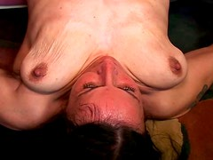 Vecina - Old bitch with saggy tits enjoys young dude