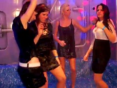 Uncomplexed white whores dance dirty lap dances in soaking wet clothes