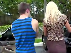 Tall Big-Titted blonde belle Nicolle have A meat stick