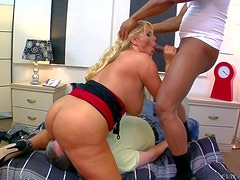 Karen Fisher is s hot bodied horny blonde MILF with