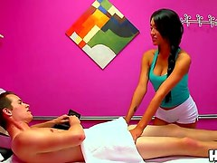 Have fun seeing this scene with Jayden Lee and Justin Hunt. Beautiful Asian girlie gives