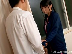 Kinky Japanese schoolgirl gives herself to her teacher