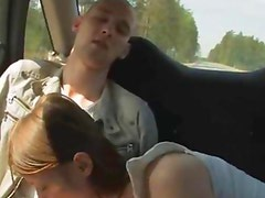 shocking teen threesome in the car