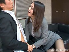Beso negro - Kaede Niiyama gets her snatch licked and pounded hard from behind